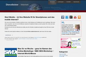 Dienstleister im Netz – Relaunch